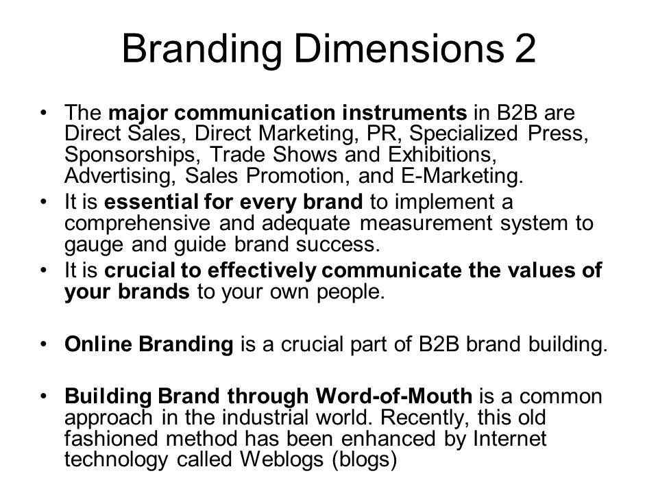 Branding Dimensions 2