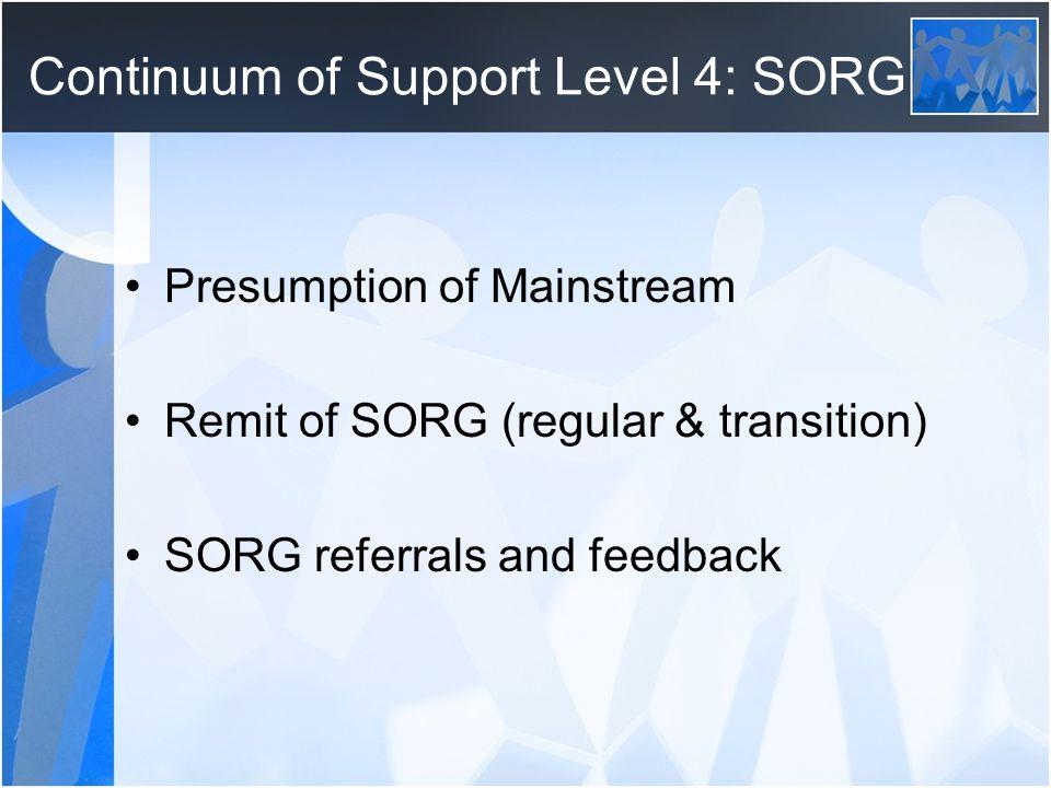 Continuum of Support Level 4: SORG