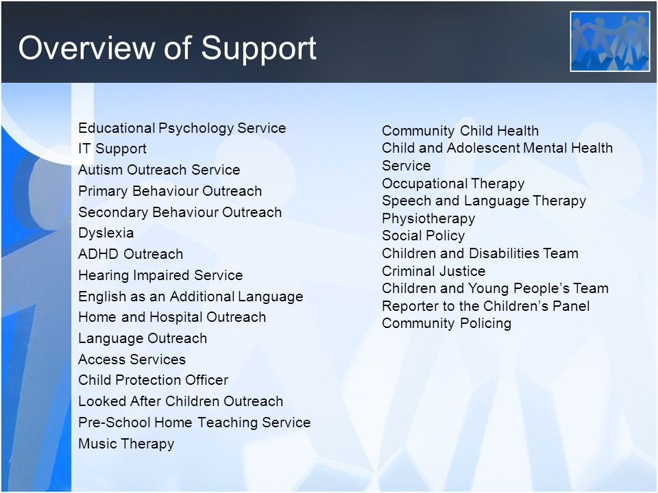 Overview of Support