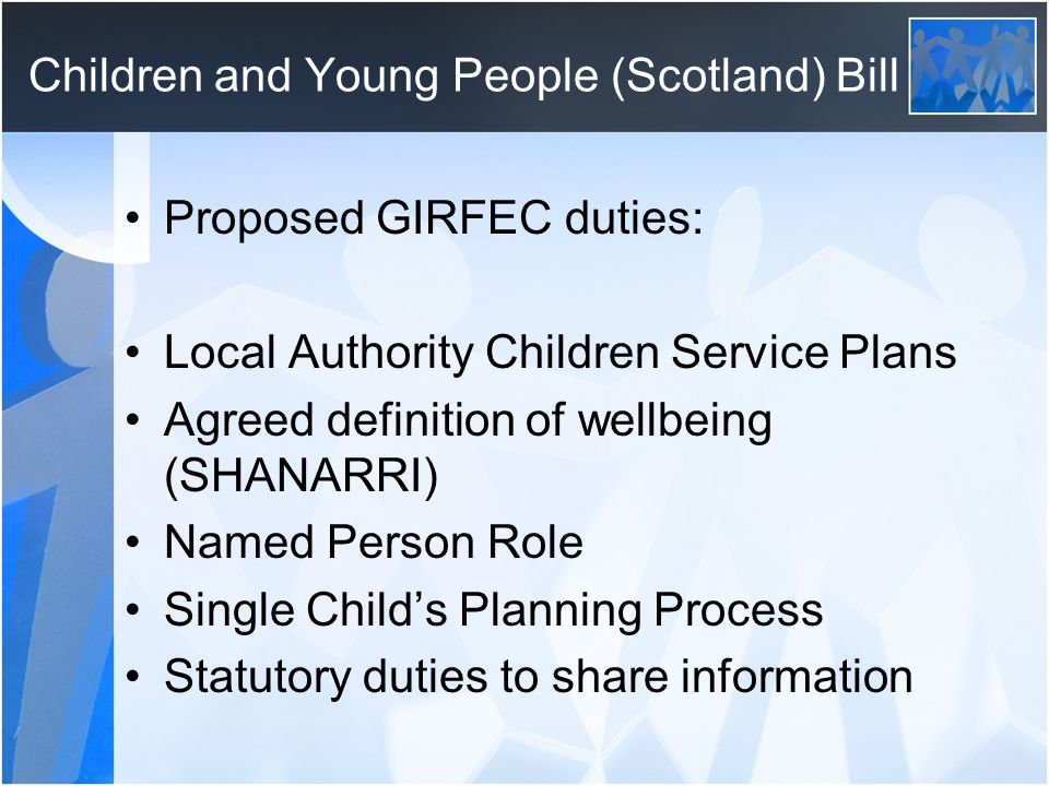 Children and Young People (Scotland) Bill
