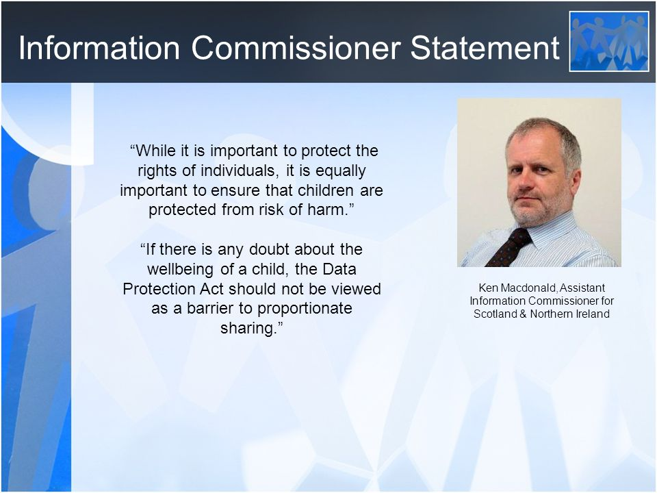 Information Commissioner Statement