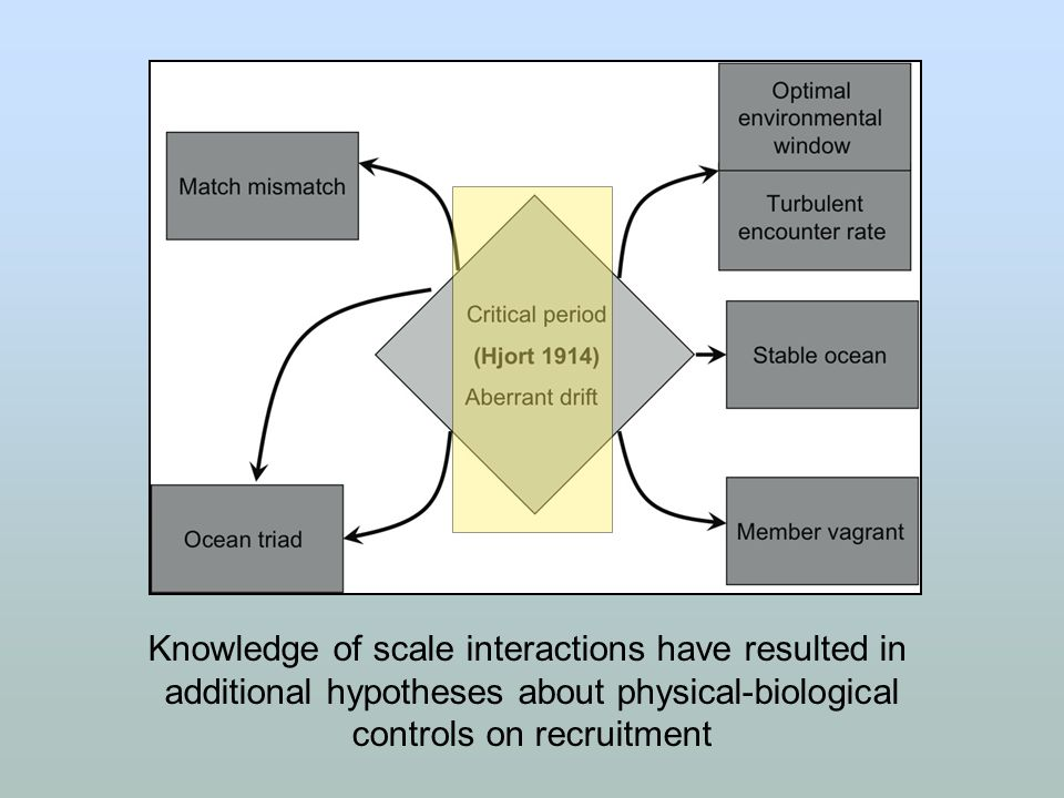 Knowledge of scale interactions have resulted in