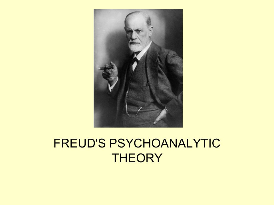 FREUD S PSYCHOANALYTIC THEORY