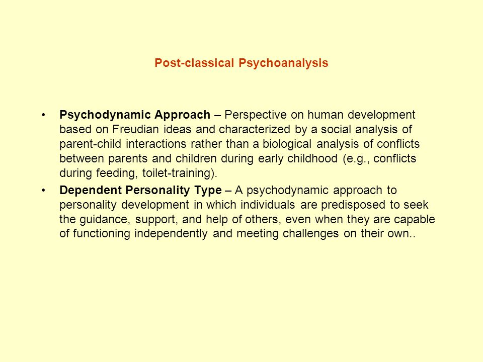 Post-classical Psychoanalysis