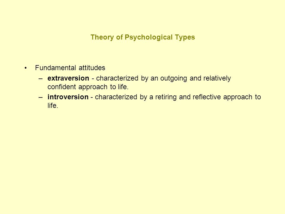 Theory of Psychological Types