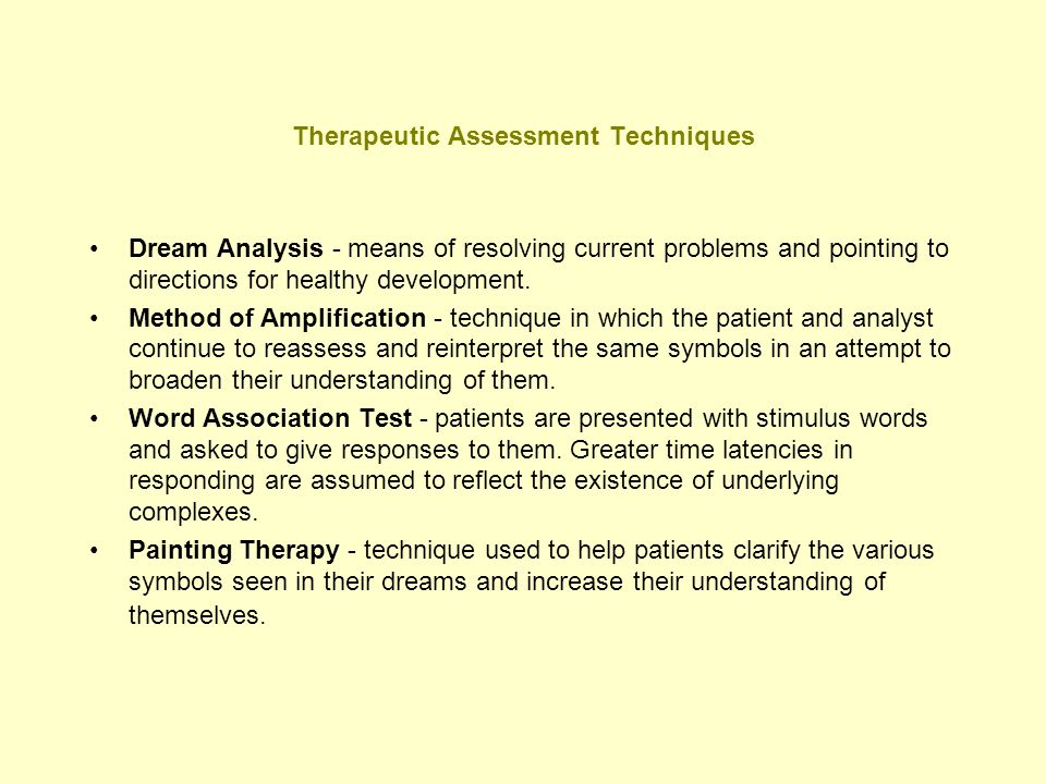 Therapeutic Assessment Techniques