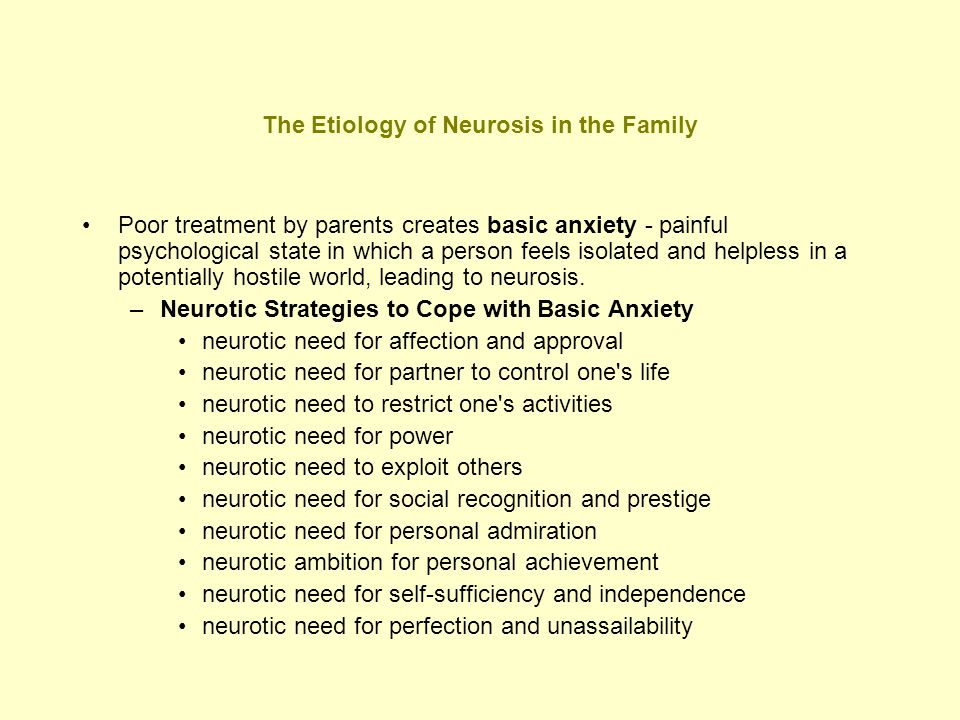 The Etiology of Neurosis in the Family