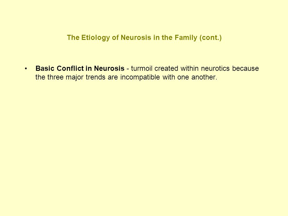 The Etiology of Neurosis in the Family (cont.)