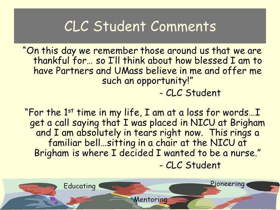 CLC Student Comments