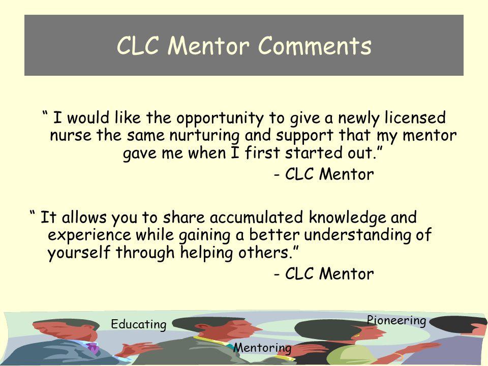 CLC Mentor Comments