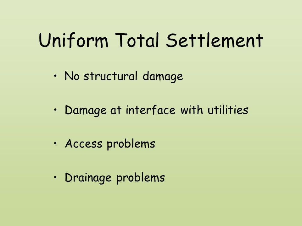 Uniform Total Settlement