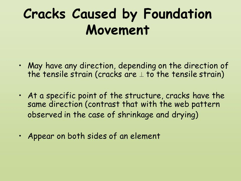 Cracks Caused by Foundation Movement