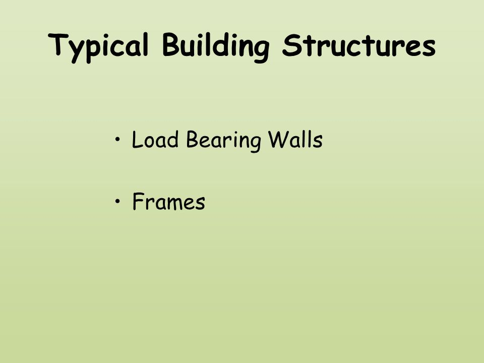 Typical Building Structures