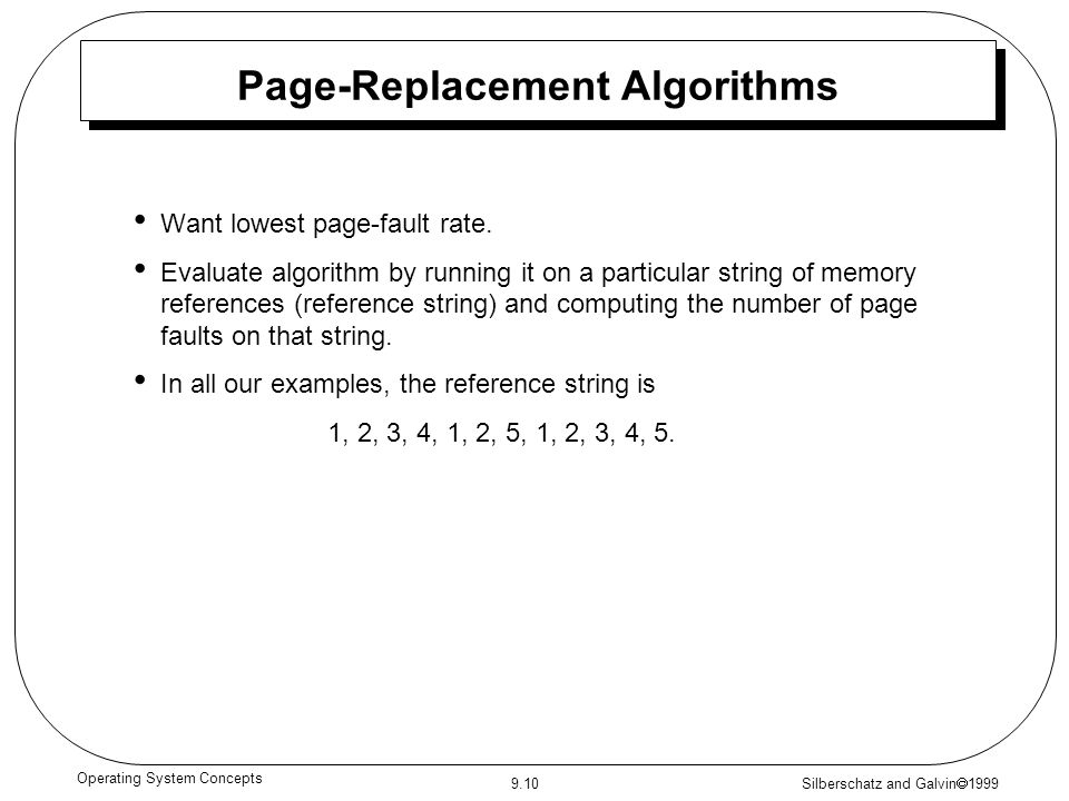 Page-Replacement Algorithms