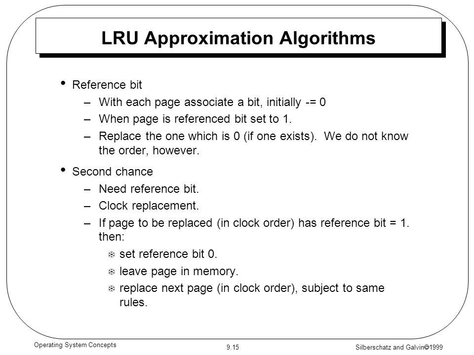 LRU Approximation Algorithms