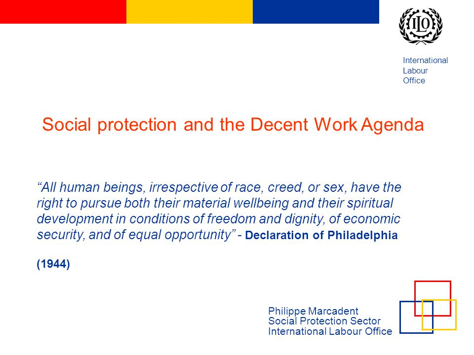 Social protection and the Decent Work Agenda