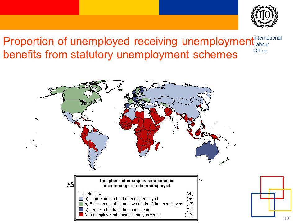 Proportion of unemployed receiving unemployment benefits from statutory unemployment schemes