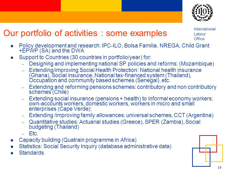 Our portfolio of activities : some examples