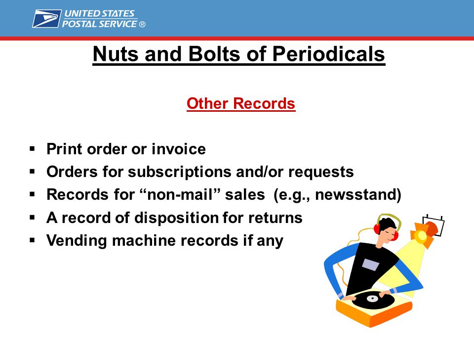 Nuts and Bolts of Periodicals Requester Publications