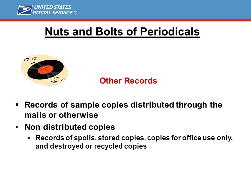 Nuts and Bolts of Periodicals