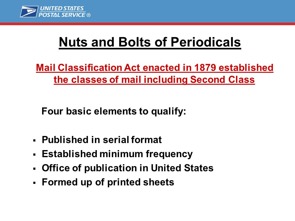 The Nuts and Bolts of Periodicals