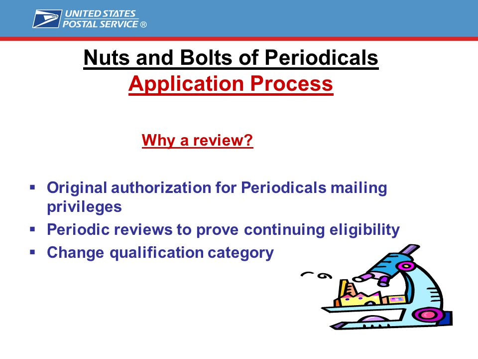 Nuts and Bolts of Periodicals Application Process
