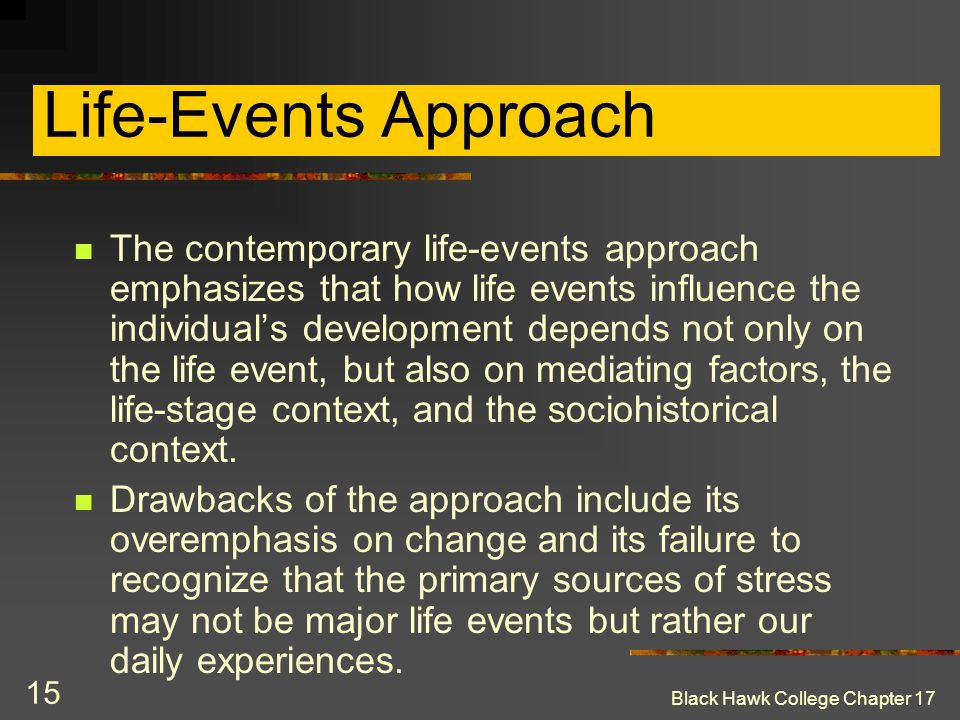 Life-Events Approach