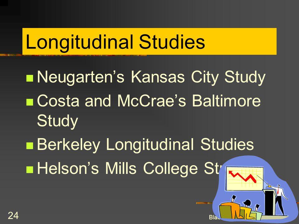 Longitudinal Studies Neugarten's Kansas City Study