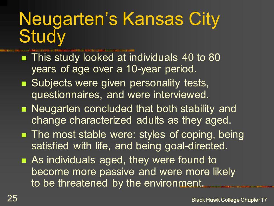 Neugarten's Kansas City Study