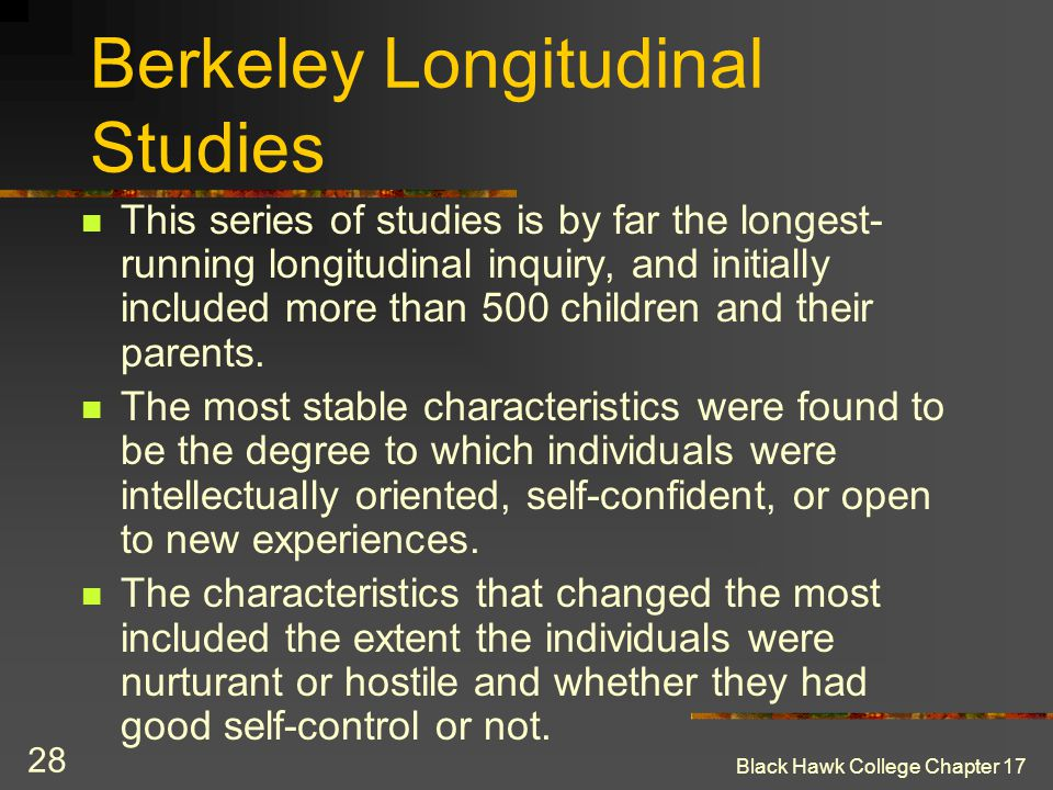 Berkeley Longitudinal Studies