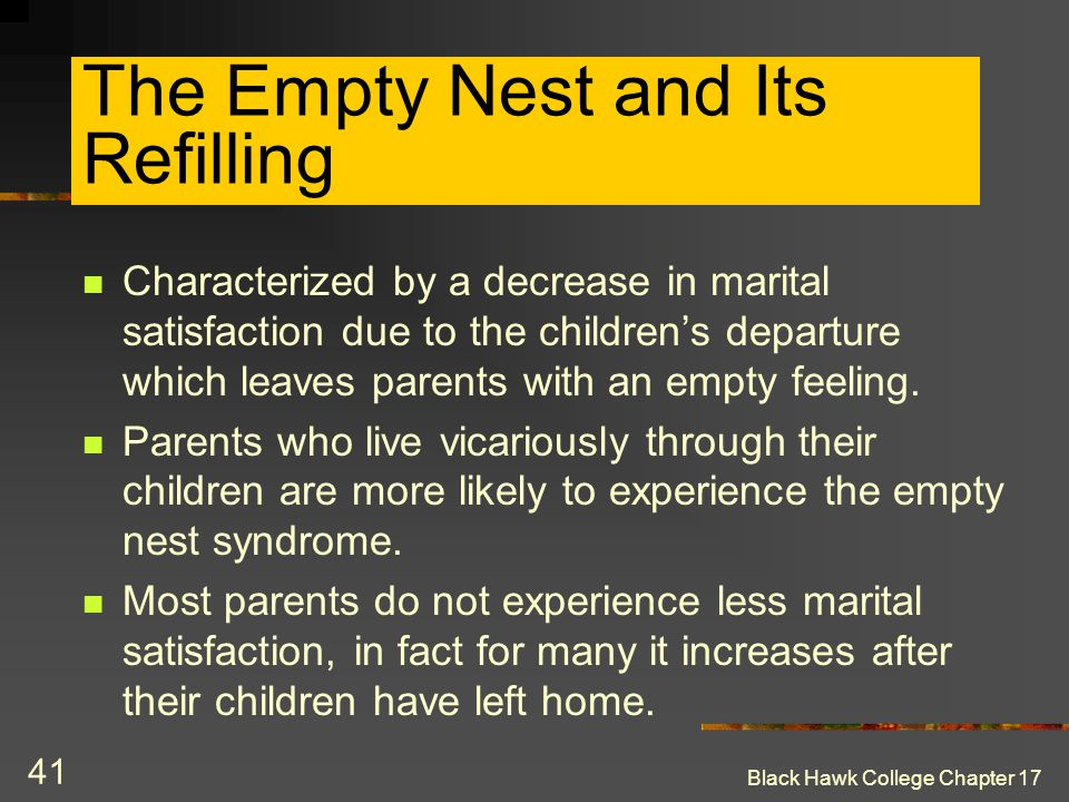 The Empty Nest and Its Refilling