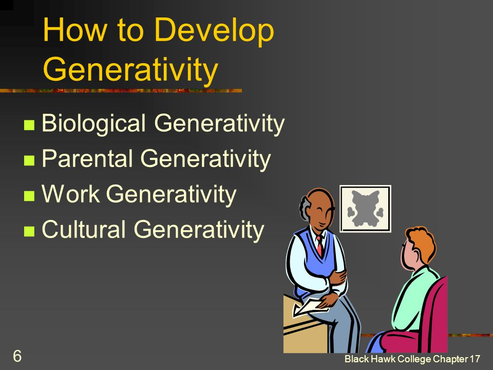 How to Develop Generativity