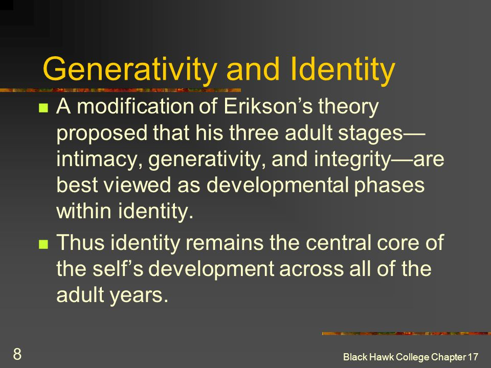 Generativity and Identity