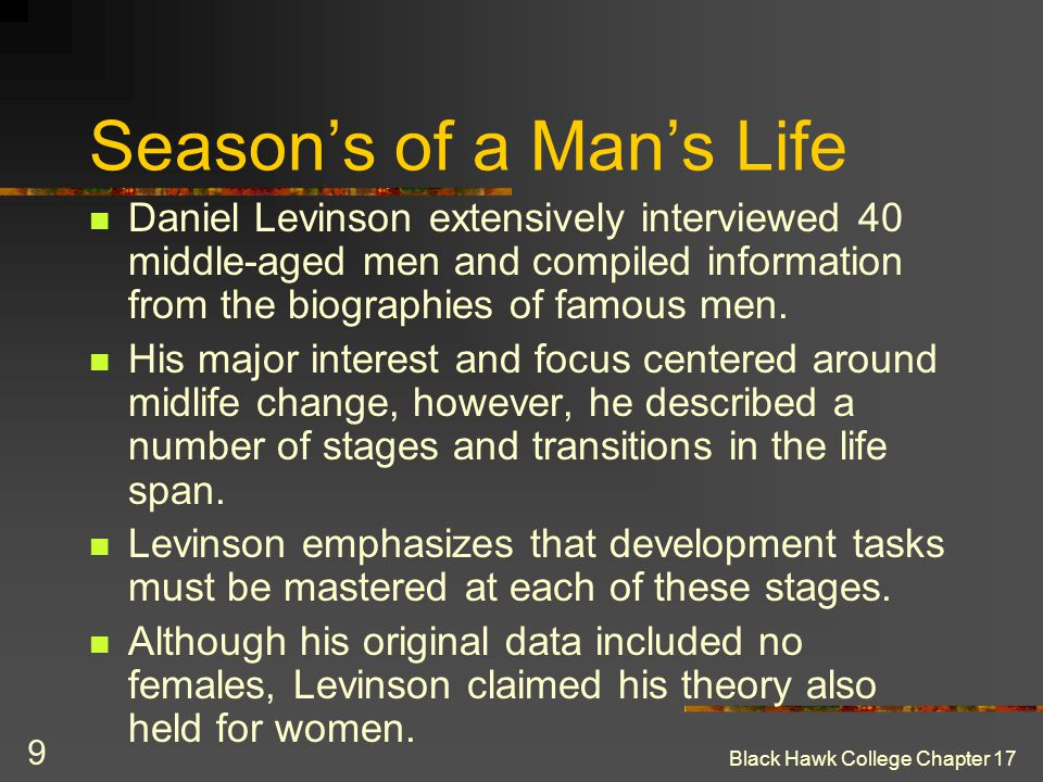 Season's of a Man's Life
