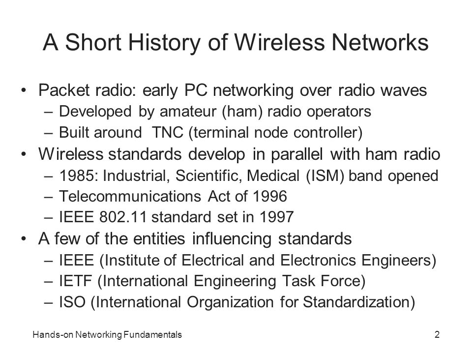 A Short History of Wireless Networks