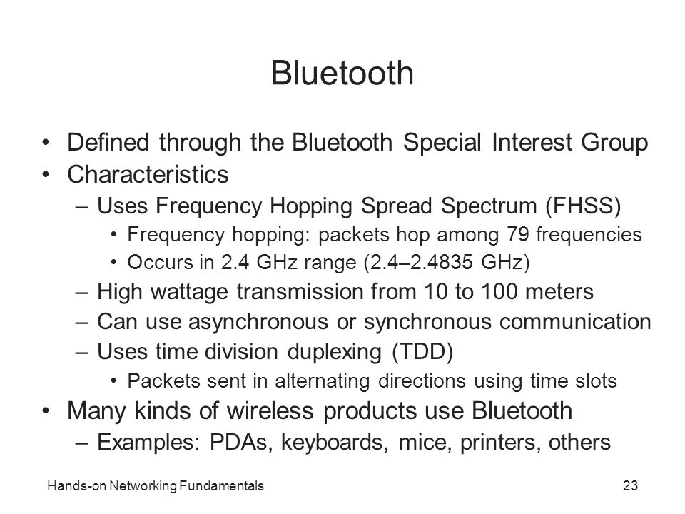 Bluetooth Defined through the Bluetooth Special Interest Group