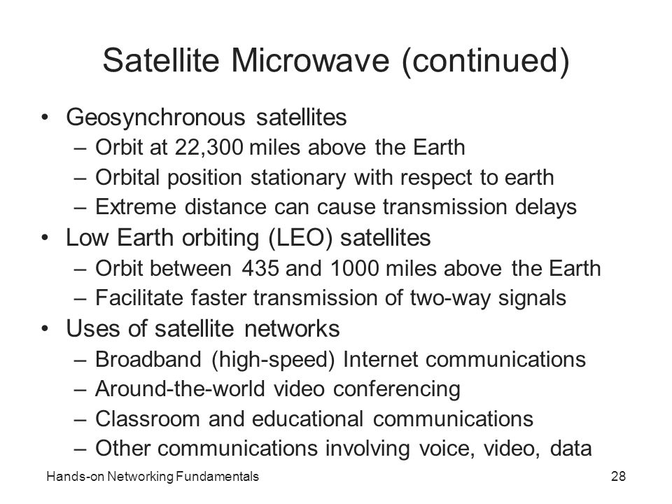 Satellite Microwave (continued)