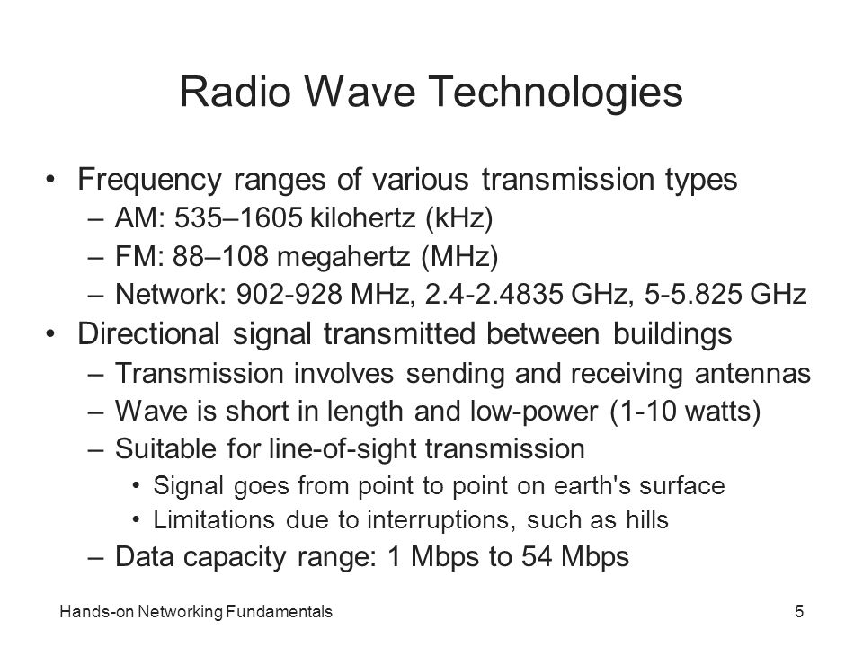 Radio Wave Technologies