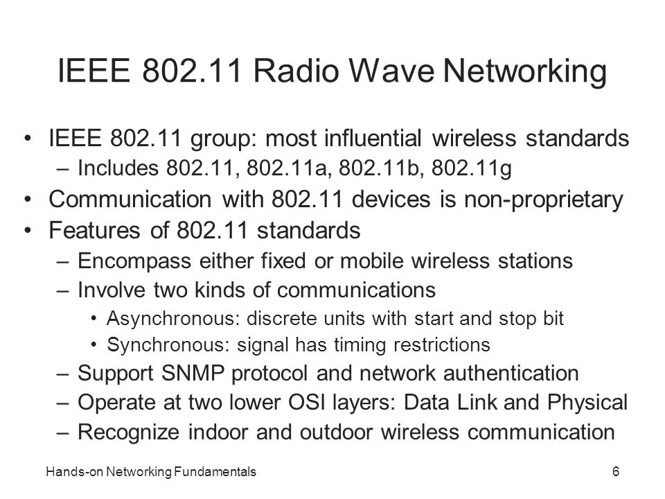 IEEE 802.11 Radio Wave Networking