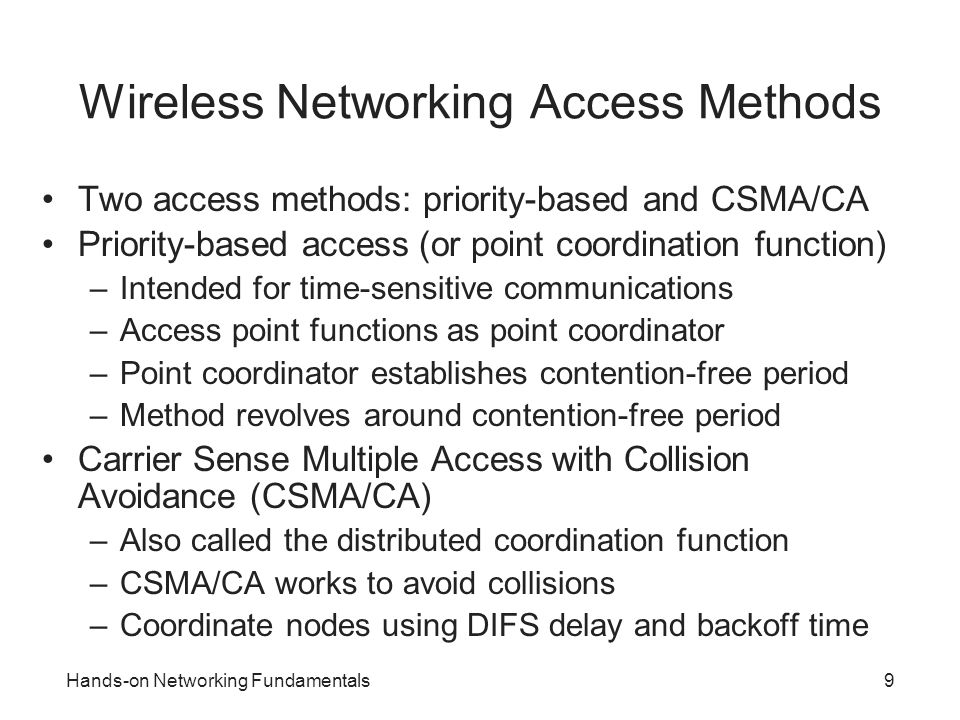 Wireless Networking Access Methods