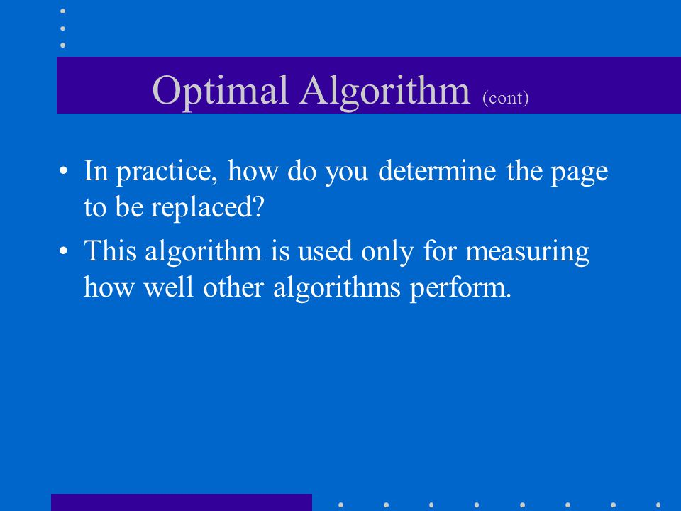Optimal Algorithm (cont)