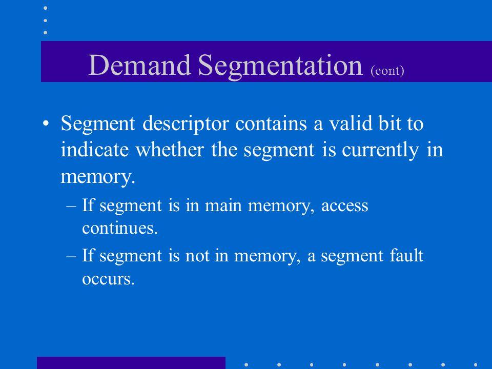 Demand Segmentation (cont)