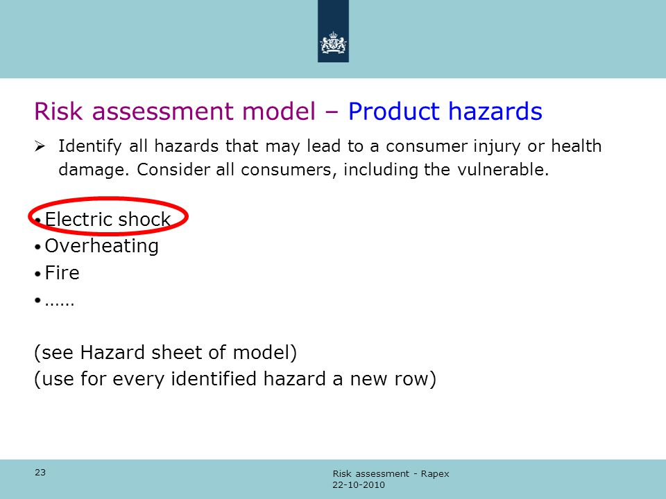 RISK ASSESSMENT How to perform the risk assessment ppt download – Product Risk Assessment