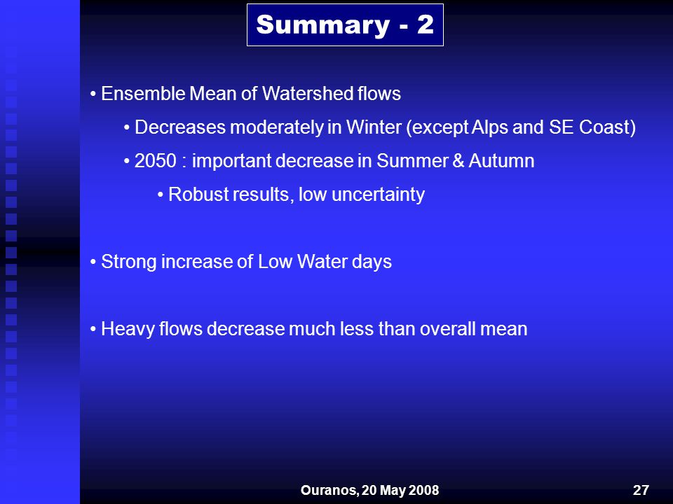Summary - 2 Ensemble Mean of Watershed flows