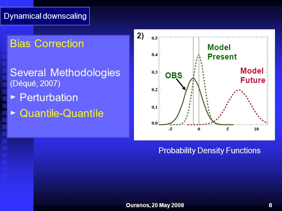 Several Methodologies (Déqué, 2007) ► Perturbation ► Quantile-Quantile