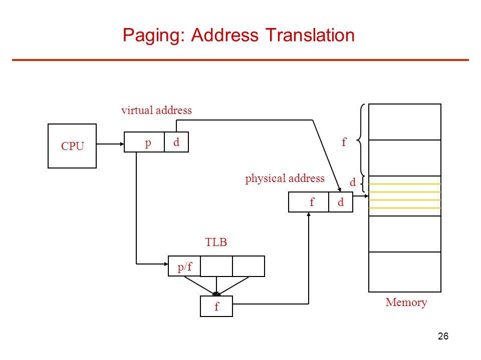 Paging: Address Translation
