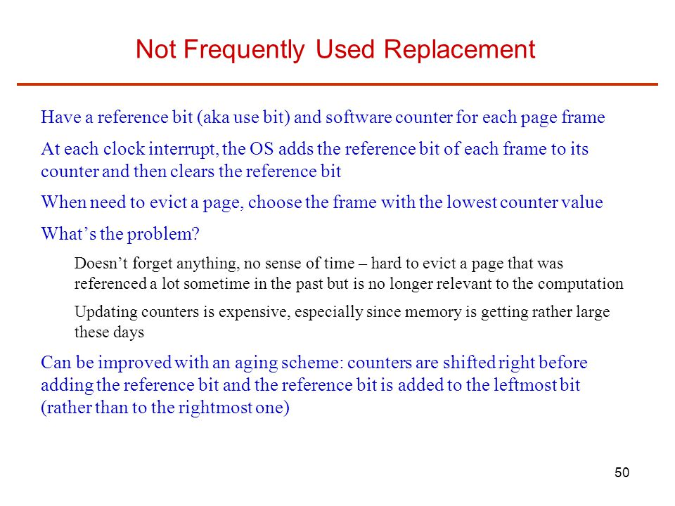 Not Frequently Used Replacement