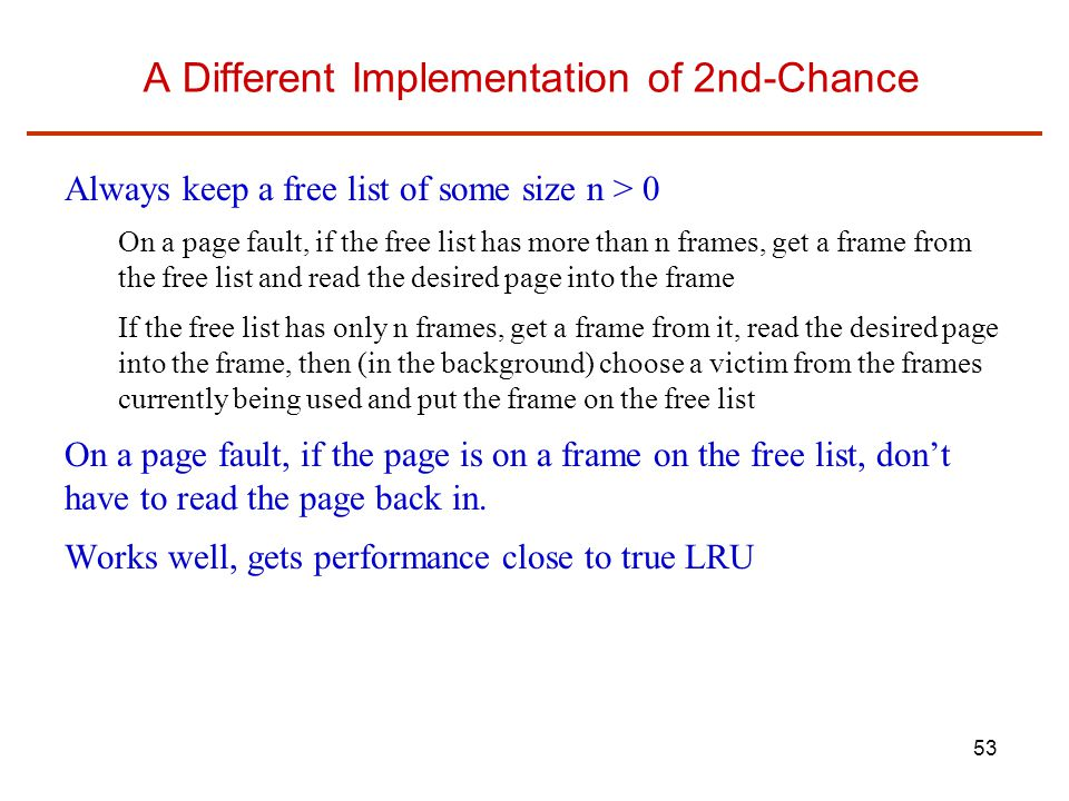 A Different Implementation of 2nd-Chance