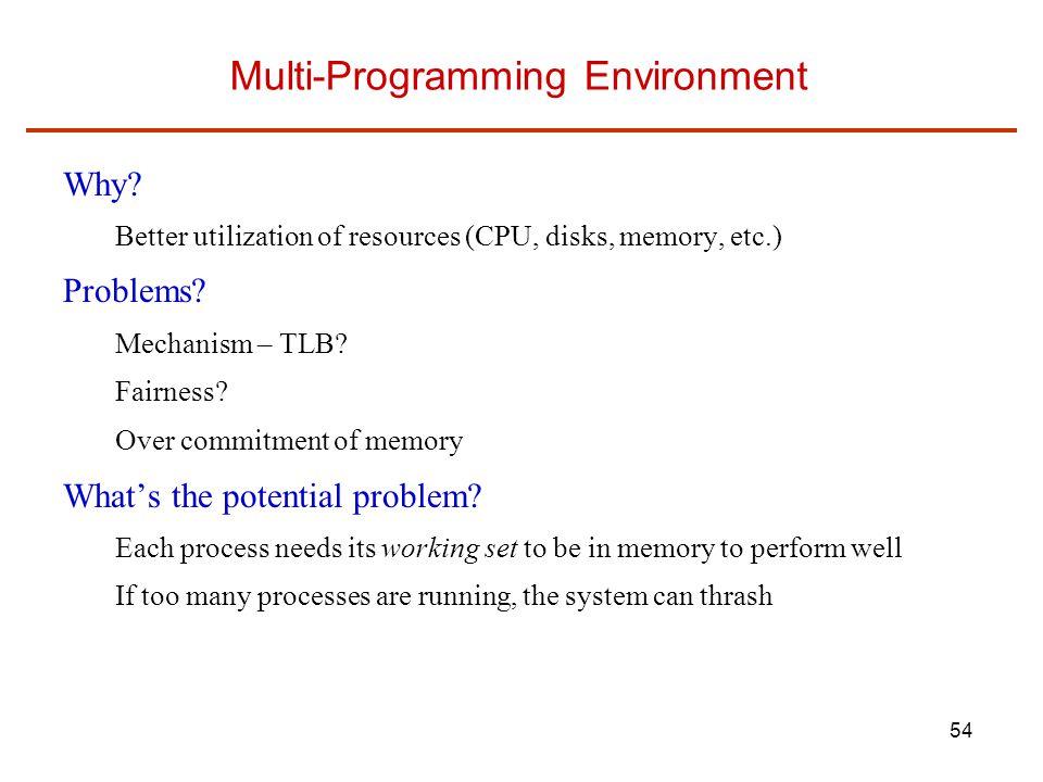 Multi-Programming Environment