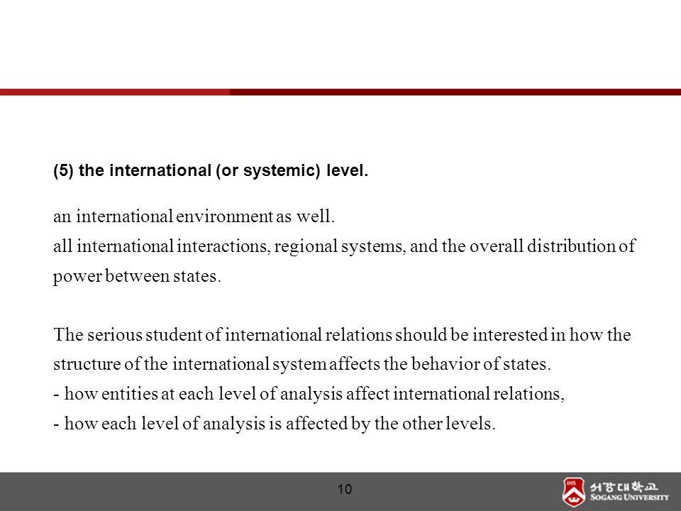 an international environment as well.
